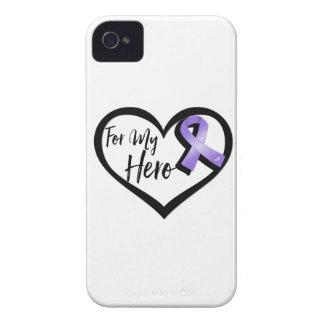 Cinta violeta de la conciencia para mi héroe funda para iPhone 4 de Case-Mate