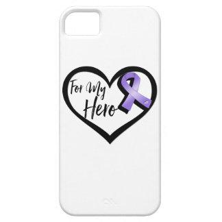 Cinta violeta de la conciencia para mi héroe funda para iPhone SE/5/5s
