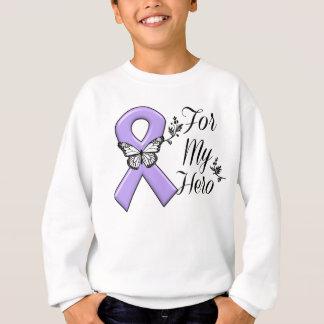 Cinta violeta para mi linfoma de Hodgkins del Sudadera