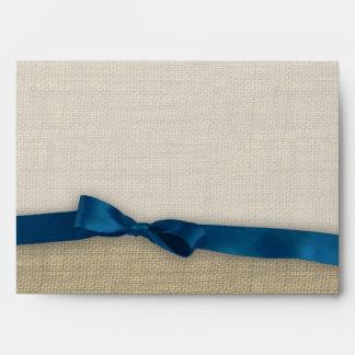 Cinta y arpillera azul marino
