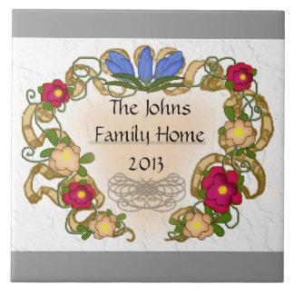 cinta y flor coloniales del estilo azulejos