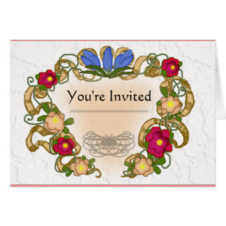 cinta y flor coloniales del estilo tarjeta