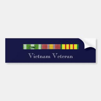 Cintas 2, veterano de RVN de Vietnam Pegatina Para Auto