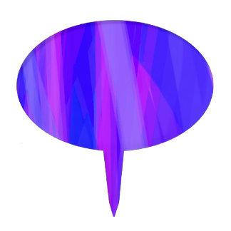 Cintas abstractas de azul y de violeta figura para tarta