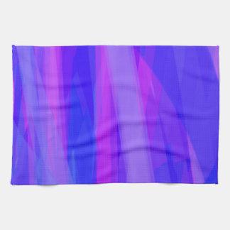 Cintas abstractas de azul y de violeta toallas de cocina