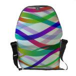Cintas abstractas de colores bolsas de mensajeria