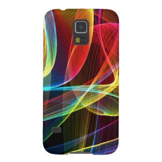 Cintas abstractas del arco iris carcasas de galaxy s5
