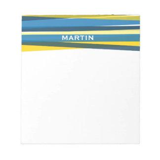 Cintas - azul y amarillo blocs de papel
