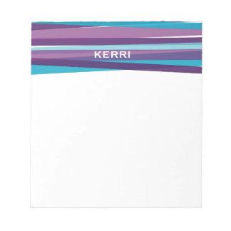 Cintas - azul y púrpura libretas para notas