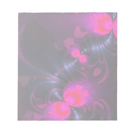 Cintas color de rosa y magentas de la hada de la f libretas para notas