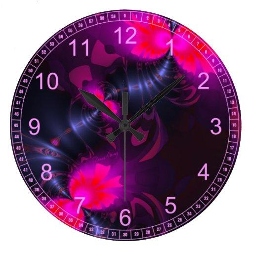 Cintas color de rosa y magentas de la hada de la f reloj