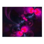 Cintas color de rosa y magentas de la hada de la f tarjetas postales