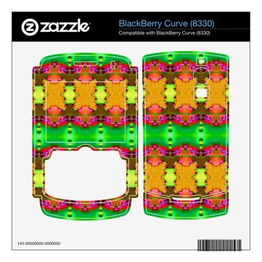 Cintas coloridas amarillas verdes BlackBerry curve calcomanías