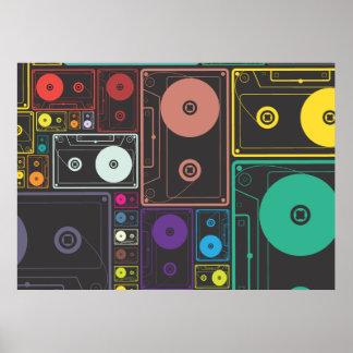 Cintas coloridas de la mezcla póster
