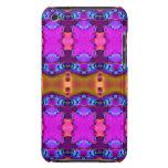 Cintas coloridas rosadas de Brown iPod Case-Mate Cobertura