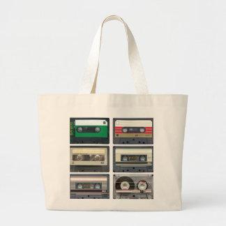 Cintas de casete bolsa tela grande