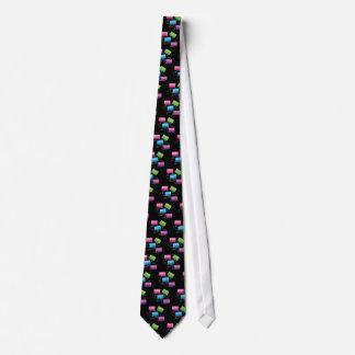 Cintas de casete coloridas corbata personalizada