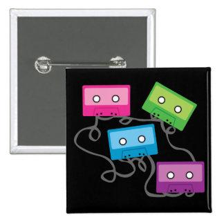 Cintas de casete coloridas pins