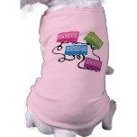 Cintas de casete coloridas playera sin mangas para perro