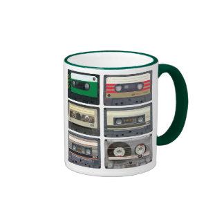 Cintas de casete tazas de café