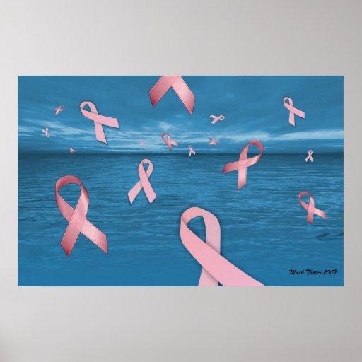 Cintas de la conciencia del cáncer de pecho en el  poster