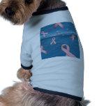 Cintas de la conciencia del cáncer de pecho en el  camisetas mascota
