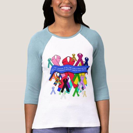 Cintas de la conciencia para la atención sanitaria t-shirts