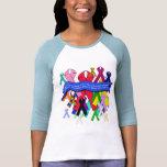 Cintas de la conciencia para la atención sanitaria camisetas