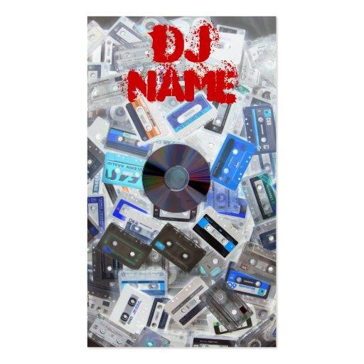 Cintas de la tarjeta de visita de DJ contra el Cd