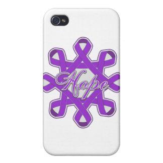 Cintas de la unidad de la esperanza de la epilepsi iPhone 4 carcasa