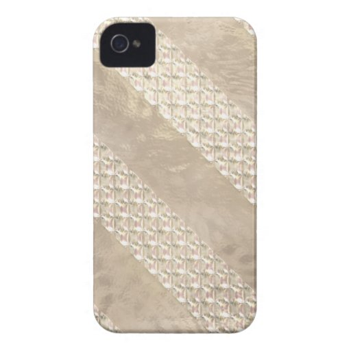 Cintas de satén de Champán Carcasa Para iPhone 4 De Case-Mate