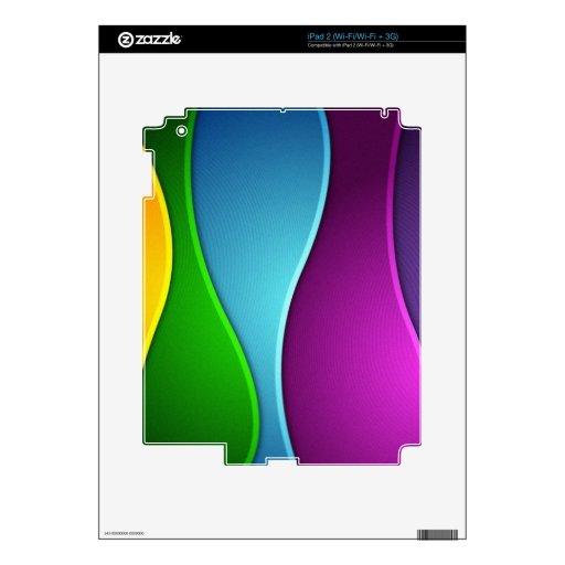 Cintas del arco iris iPad 2 calcomanías