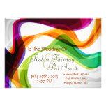 Cintas del arco iris que casan la invitación - 1