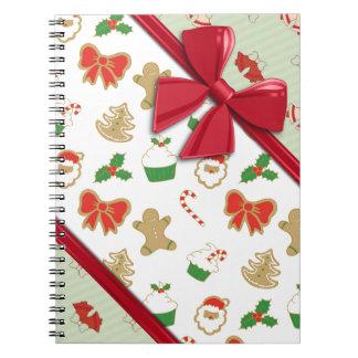 Cintas elegantes y navidad Belces Libros De Apuntes Con Espiral