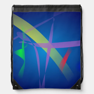 Cintas en espacio de los azules marinos mochilas