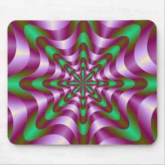 Cintas en Mousepad púrpura y verde