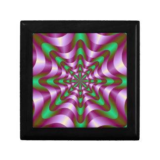Cintas en púrpura y verde caja de joyas