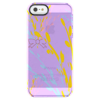 Cintas florales de la conciencia en púrpura de la funda clear para iPhone SE/5/5s