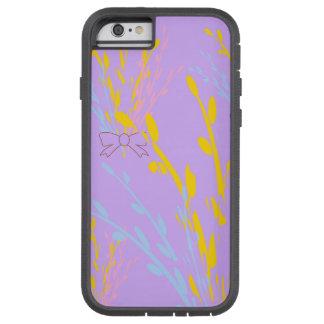 Cintas florales de la conciencia en púrpura de la funda tough xtreme iPhone 6