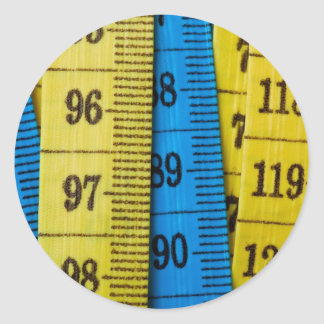 Cintas métricas pegatina redonda