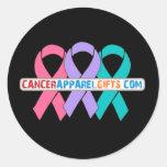Cintas para una causa v4 - CancerApparelGifts.Com Etiqueta Redonda