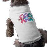 Cintas para una causa v4 - CancerApparelGifts.Com Ropa De Perros