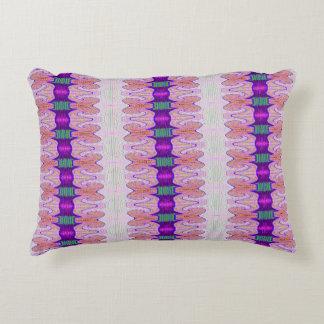 Cintas púrpuras rosadas bonitas cojín decorativo