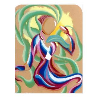 Cintas que fluyen abstractas de la criatura ligera postales