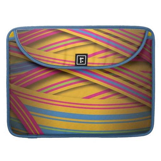 Cintas rayadas en colores brillantes funda para macbook pro