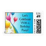 Cintas rizadas coloridas de los globos el | sellos