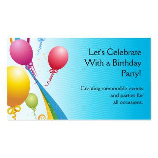 Cintas rizadas coloridas de los globos el | tarjeta personal