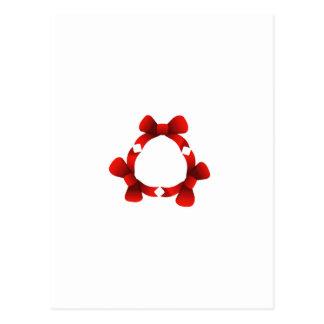 Cintas rojas en círculo postales