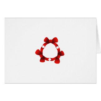 Cintas rojas en círculo tarjeta de felicitación