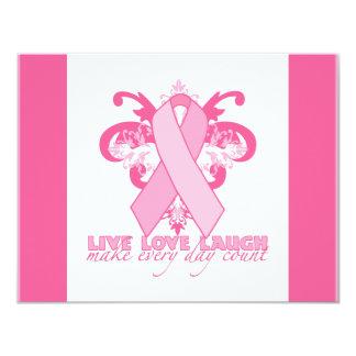 Cintas rosadas cada día invitación 10,8 x 13,9 cm
